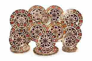 TWENTY-FOUR ROYAL CROWN DERBY IMARI PLATES