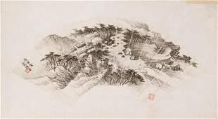 XIAO XUN 蕭愻 (1883-1944), FAN PAINTING