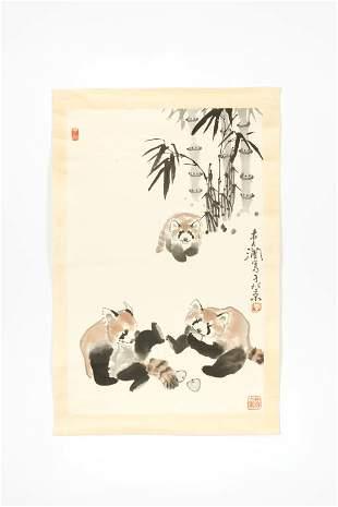 LI HAN 李涵 (B. 1940), RED PANDAS