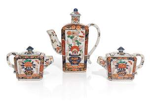 JAPANESE IMARI COFFEE POT AND TWO TEAPOTS