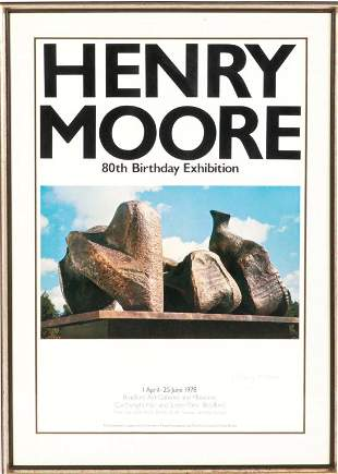 HENRY MOORE 80TH BIRTHDAY EXHIBITION POSTER