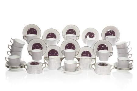 RICHARD GINORI PORCELAIN 21 PC PARTIAL TEA SERVICE