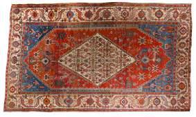 ANTIQUE PERSIAN CAMEL HAIR BAKSHAISH HERIZ CARPET