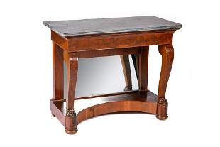 REGENCY MARBLE TOP CONSOLE TABLE