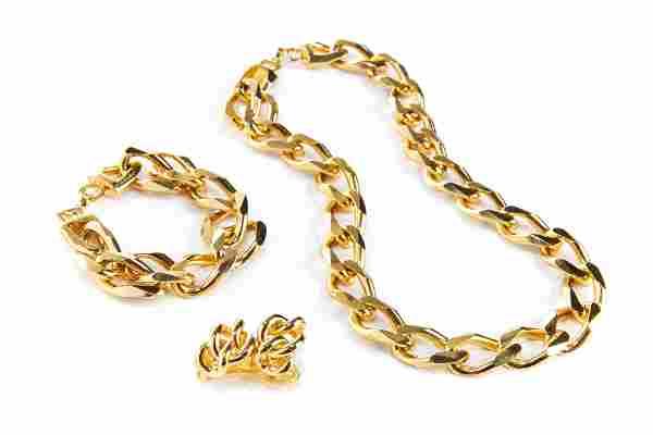 VINTAGE DIOR GOLD-TONED CHAIN SUITE