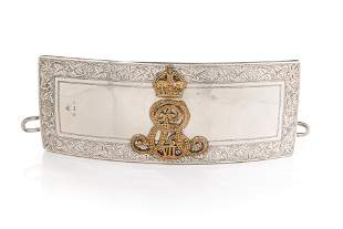 EDWARD VII CAVALRY OFFICERS SILVER POUCH