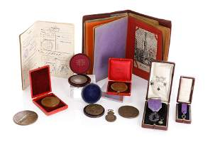 GROUP OF FRENCH PRESENTATION MEDALS