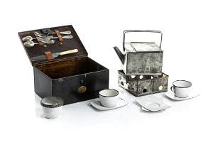 ENGLISH TRAVELING/ CAMPAIGN TEA SET