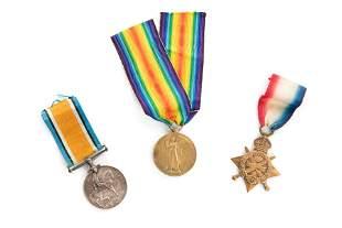 THREE ENGLISH FIRST WORLD WAR MEDALS