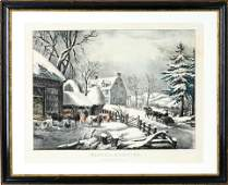 [LITHOGRAPHY] CURRIER & IVES: WINTER MORNING