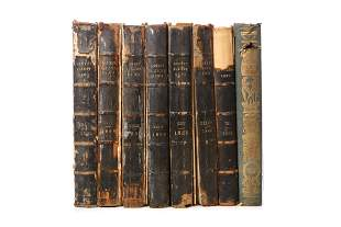 [LONDON ILLUSTRATED NEWS] A LOT 8 BOUND VOLUMES