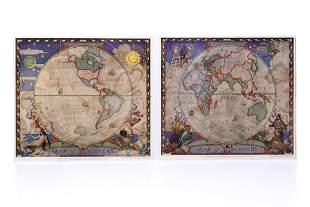 [MAPS] N. C. WYETH: 2 MAPS OF DISCOVERY