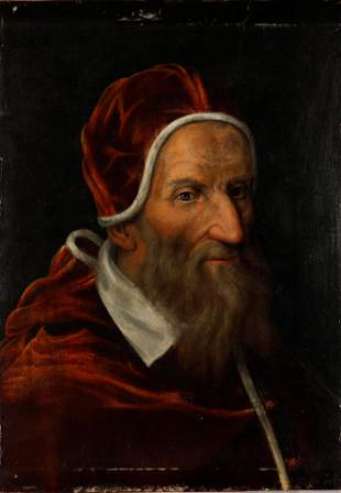 ANTIQUE PORTRAIT OF POPE GREGORY VIII