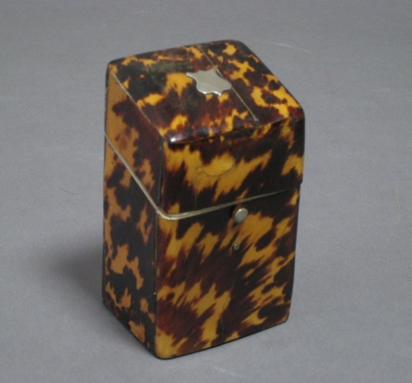 1003: GEORGIAN ENGLISH TORTOISE SHELL FITTED BOX