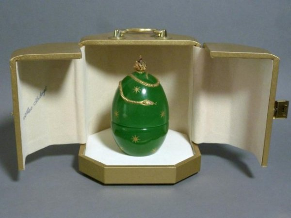 1014: THEO FABERGE'S GREEN CRYSTAL DEVIL'S EGG