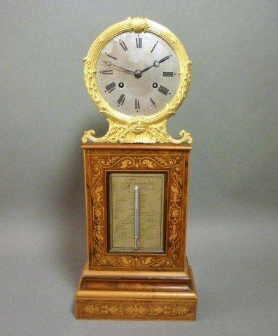 1021: LOUIS PHILIPPE ROSEWOOD MANTLE CLOCK