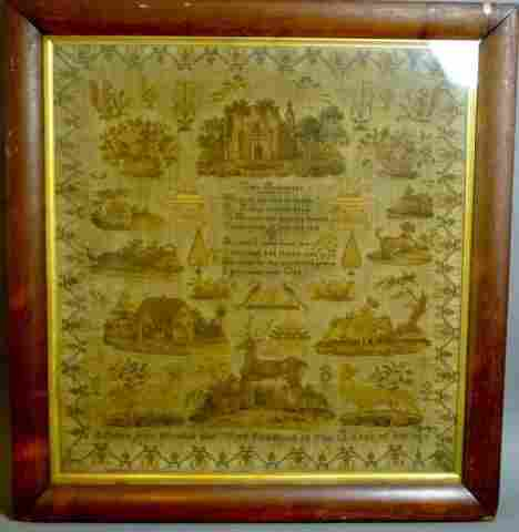 1029: 19TH CENTURY PICTORIAL & VERSE SAMPLER
