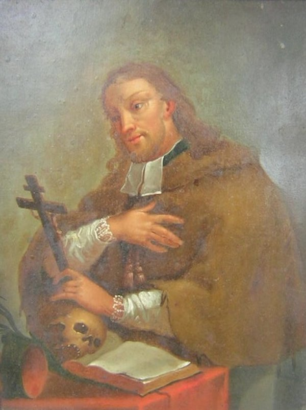 1015A: 18TH CENTURY CONTINENTAL RELIGIOUS PORTRAIT ON C