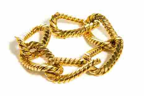 YELLOW GOLD HEAVY LOOP BRACELET, 91g