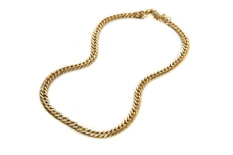 ITALIAN GOLD CURB LINK NECKLACE, 23g