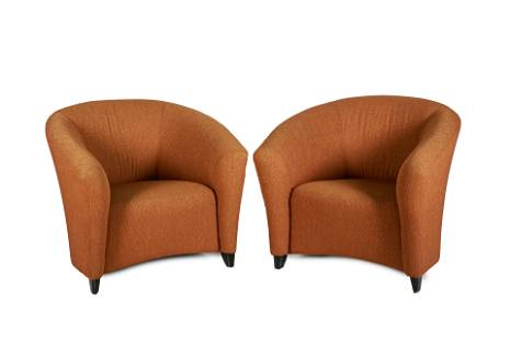 PAIR OF KNOLL UPHOLSTERED TUB CHAIRS