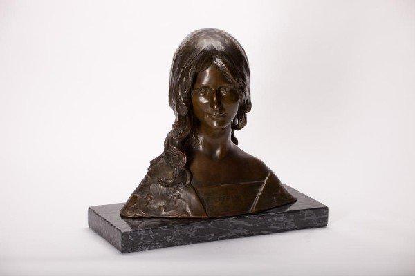 2021: LEON NOEL DELAGRANGE (1872-1910 FRENCH BRONZE BUS