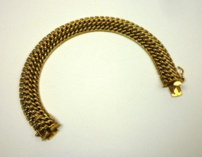 1001: GOOD YELLOW GOLD ROPE LINK BRACELET