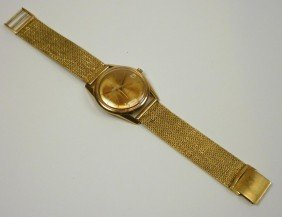 UNIVERSAL GENEVE POLEROUTER 18K GOLD WRISTWATCH