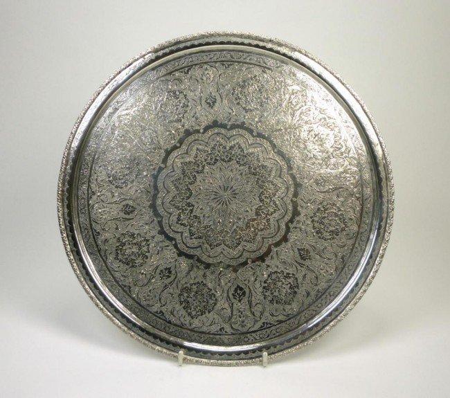 1070: PERSIAN SILVER CIRCULAR SALVER
