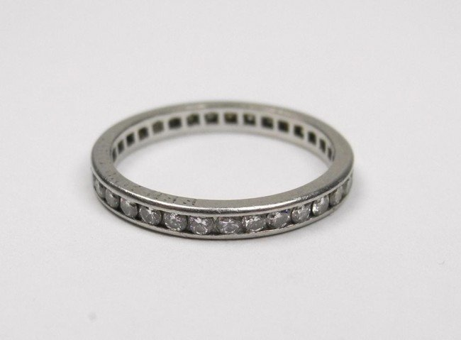 1009: GOLD AND DIAMOND ETERNITY BAND