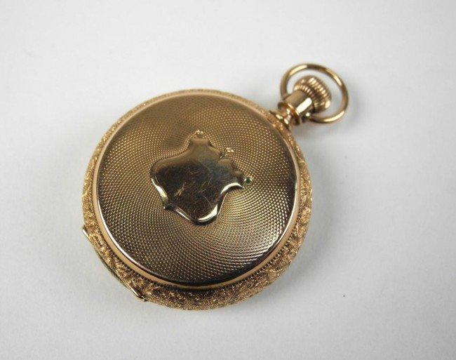 1024: LADY'S WALTHAM GOLD POCKET WATCH