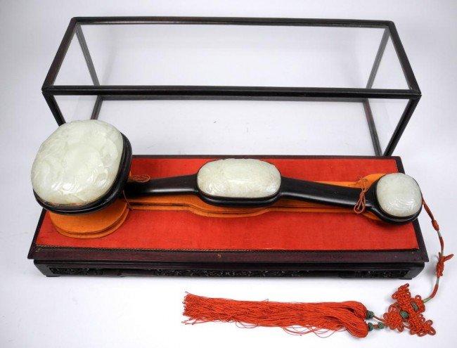 1184: FINE CHINESE WHITE JADE RUYI SCEPTER