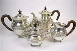1030 PORTUGUESE SILVER TEA  COFFEE SERVICE