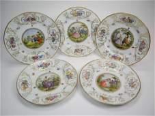 1166: TWELVE MEISSEN PORCELAIN DINNER PLATES