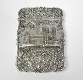 1007A: NATHANIEL MILLS SILVER CASTLE TOP CARD CASE