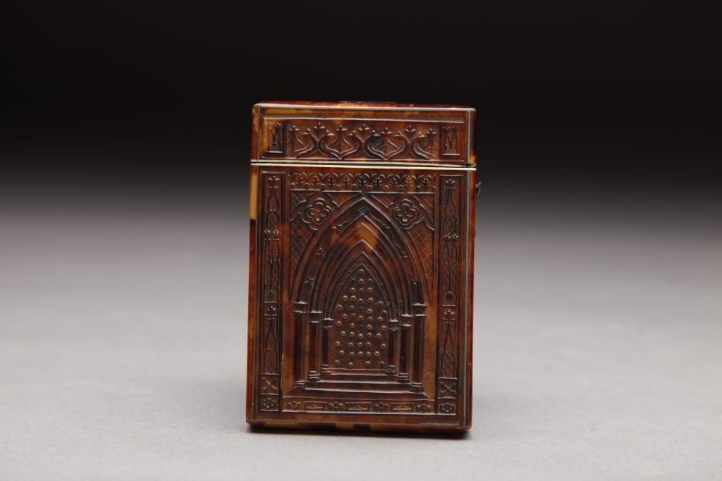3009: VICTORIAN TORTOISE SHELL CARD CASE