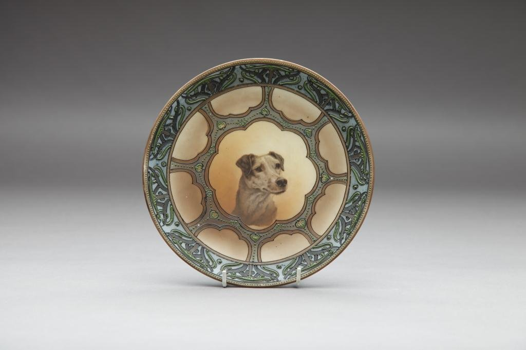 2004: NIPPON HAND PAINTED DOG PLAQUE