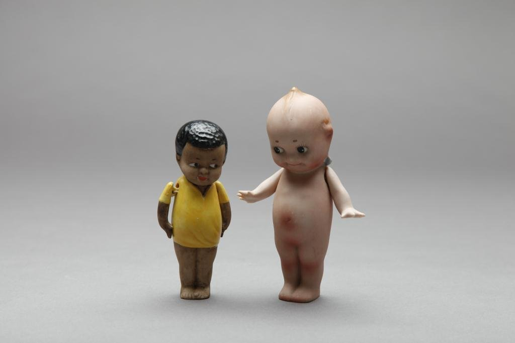 2041: TWO RARE NIPPON BISQUE DOLLS