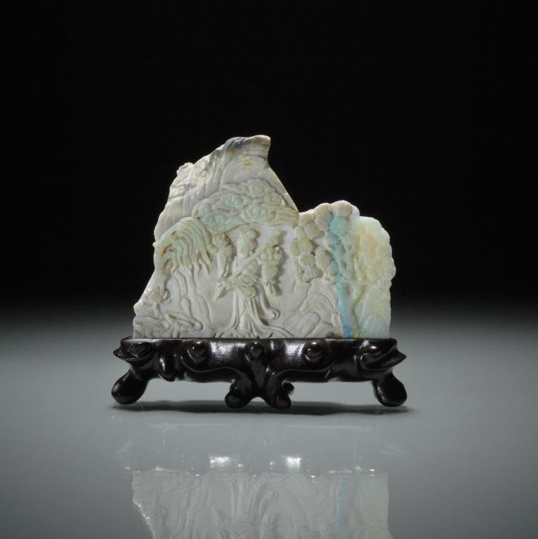 1014: FINE CHINESE OPAL FIGURAL CARVING