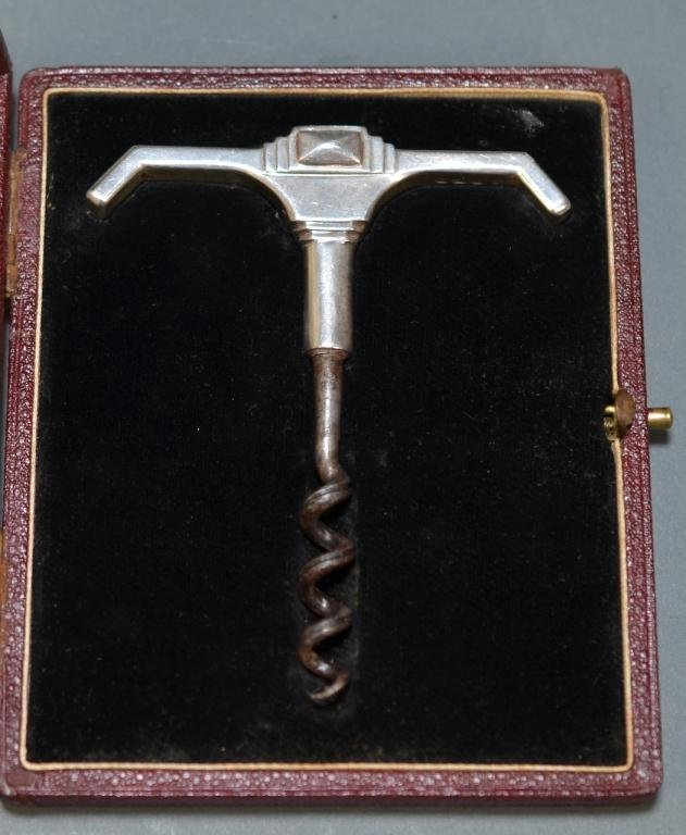 2005A: ALFRED DUNHILL ENGLISH SILVER CORKSCREW OPENER
