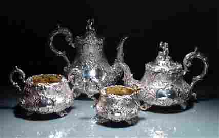 8: FINE VICTORIAN SILVER TEA  & COFFEE SERVICE