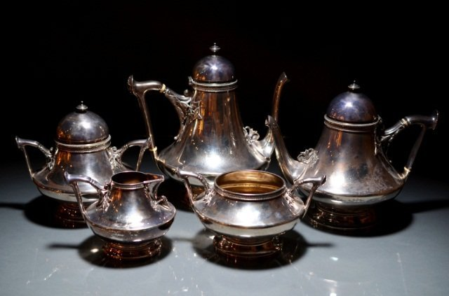 23: GORHAM SILVER TEA  AND COFFEE SERVICE