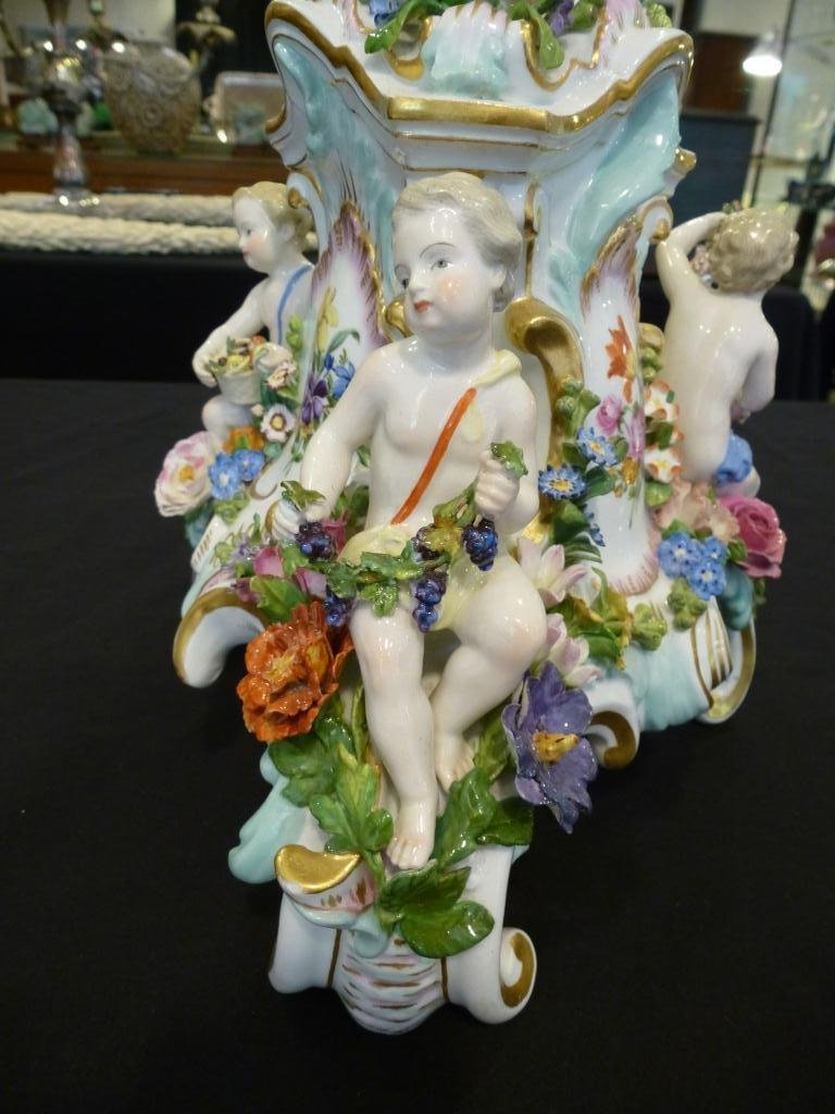 PAIR OF MEISSEN PORCELAIN CANDELABRA - 3