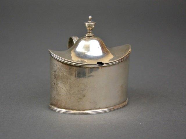 Georgian silver mustard pot, 101 g.