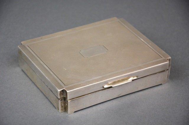 English Art Deco silver box