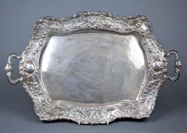 American Gorham sterling silver tray, 1527 g.