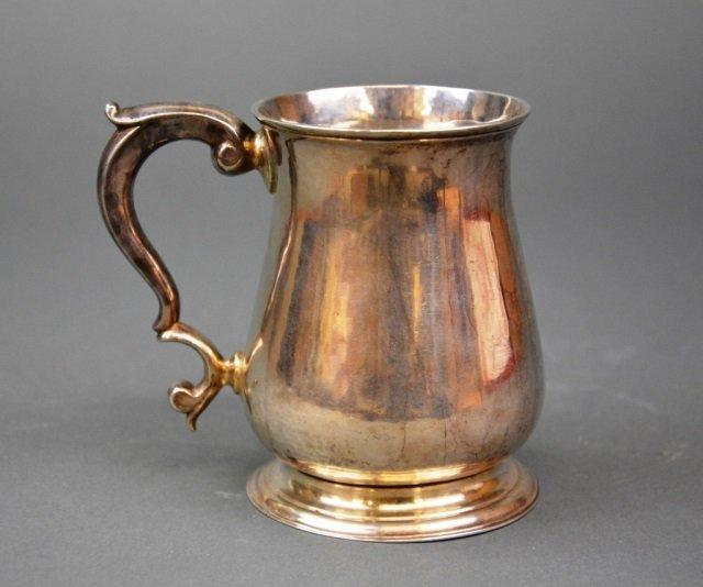 Georgian silver cann