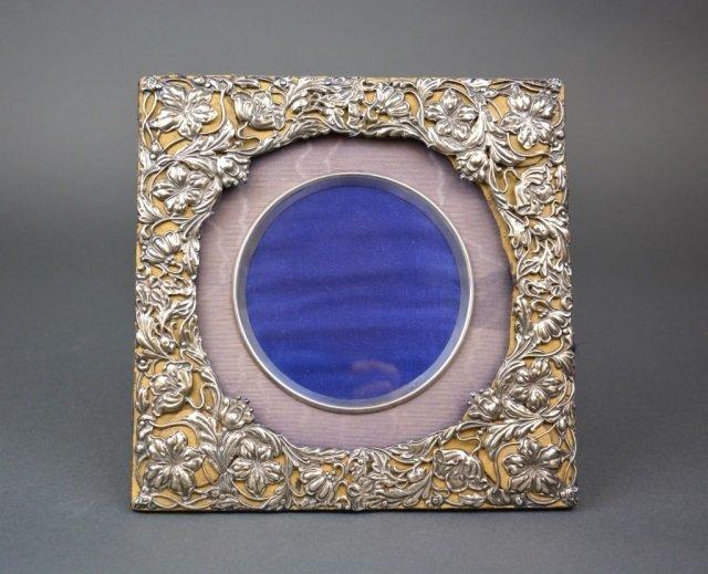 Silver Art Nouveau picture frame