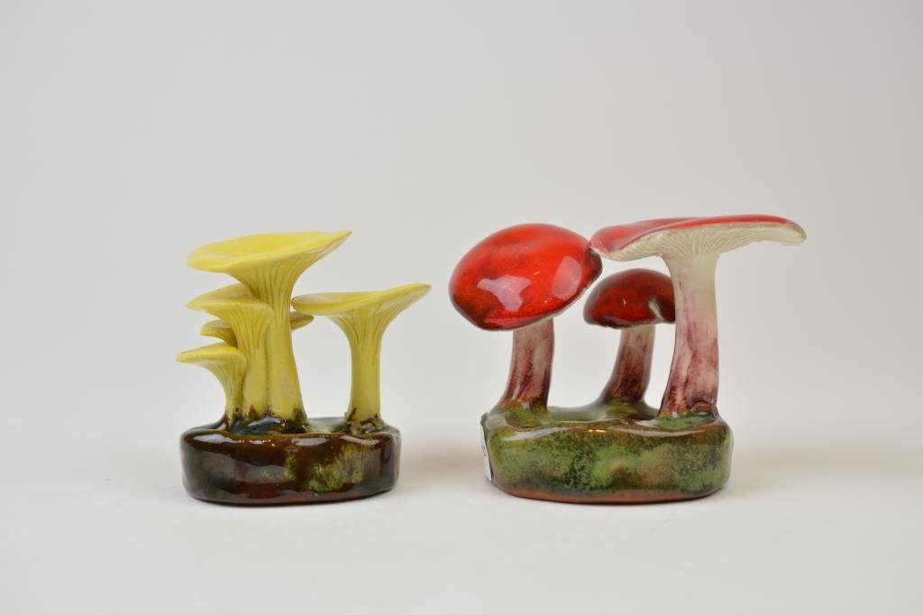 Two Lorenzen Pottery Mushrooms