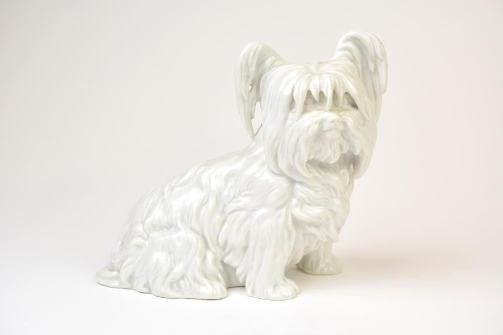 Austrian Blanc De Chine Porcelain Yorkie